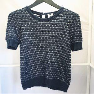"Frenchi Short ""Puffed"" Sleeve Sweater Sz M"